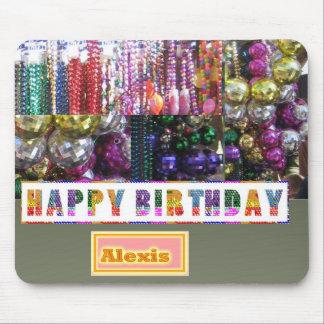 FELIZ cumpleaños - substituya/añada su nombre Tapetes De Raton