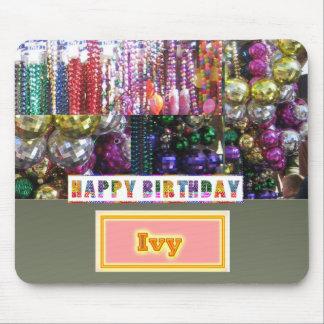 FELIZ cumpleaños - substituya/añada su nombre Alfombrilla De Raton
