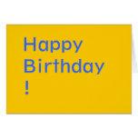 ¡Feliz cumpleaños! Tarjeta