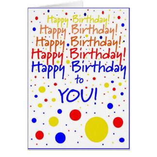 ¡Feliz cumpleaños Tarjetón