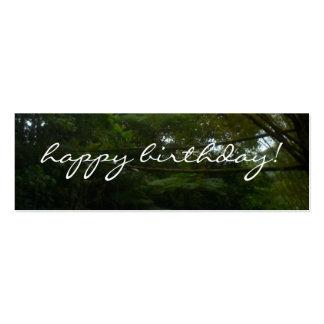 Feliz cumpleaños tarjetas de visita mini