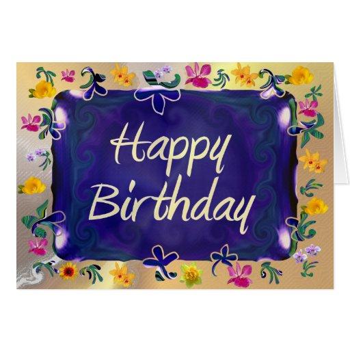 Feliz cumpleaños tarjeta de felicitación