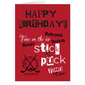 ¡Feliz cumpleaños! Tarjeta de felicitación del hoc