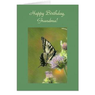Feliz cumpleaños tarjeta de la plantilla de la ab