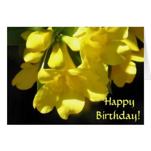 ¡Feliz cumpleaños! Tarjeta del jazmín de Carolina