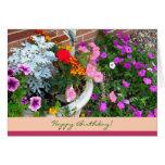 Feliz cumpleaños Tarjeta-Que florece donde le plan