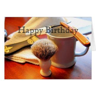 Feliz cumpleaños, tarjeta recta de la maquinilla