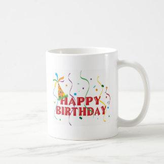 Feliz cumpleaños tazas de café