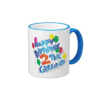 Feliz cumpleaños taza de dos colores