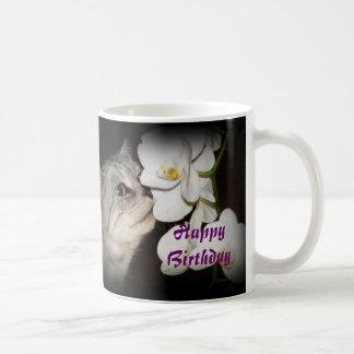Feliz cumpleaños - taza del gato