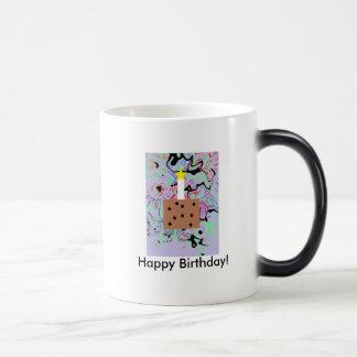 Feliz cumpleaños taza mágica