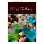 ¡Feliz cumpleaños! Tesoros de la playa de las tarj Tarjeton