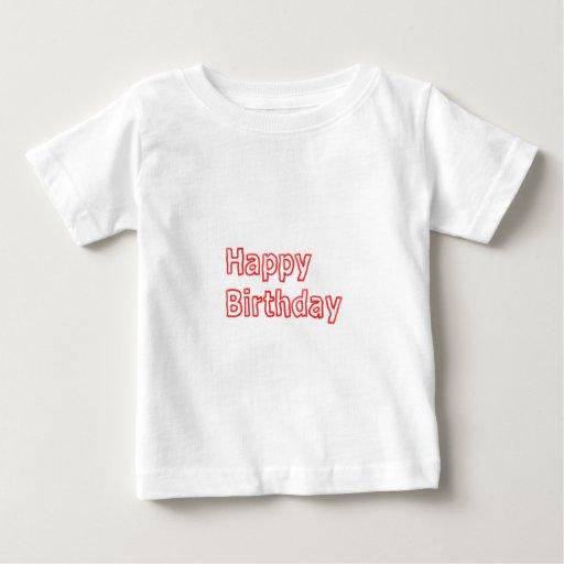 Feliz cumpleaños - texto artístico de la escritura polera