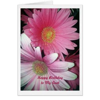 Feliz cumpleaños, tía tarjeta de felicitación