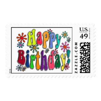 Feliz cumpleaños timbres postales
