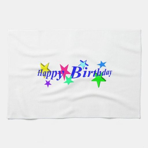 Feliz cumpleaños toallas de mano