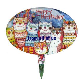Feliz cumpleaños todos nosotros primero de la tort decoración para tarta