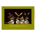 ¡Feliz cumpleaños todos nosotros! tarjeta