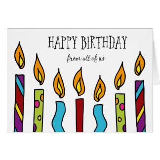 Feliz cumpleaños todos nosotros tarjeta