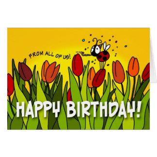 Feliz cumpleaños - todos nosotros tarjeton