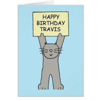 Feliz cumpleaños Travis Tarjeta De Felicitación