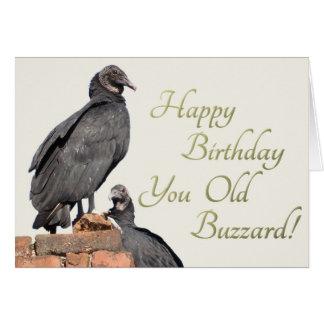 ¡Feliz cumpleaños usted halcón viejo! Tarjeta de