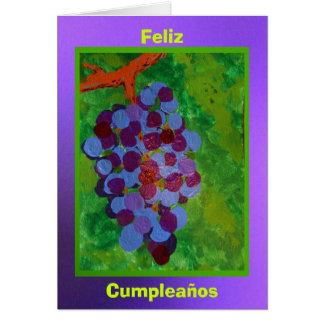 Feliz Cumpleaños - Uvas Concord Cards