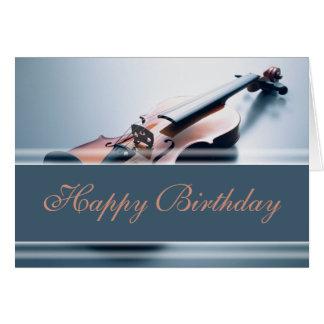 Feliz cumpleaños - violín tarjeta de felicitación