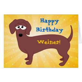 Feliz cumpleaños Weiner Tarjeta De Felicitación