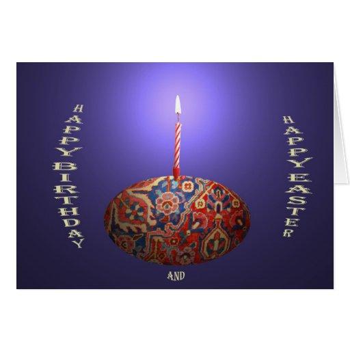 Feliz cumpleaños y Pascua Felicitacion