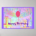 Feliz cumpleaños y recuerdos un impulso posters