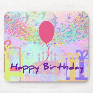 Feliz cumpleaños y recuerdos un impulso tapete de ratones