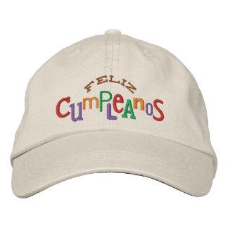 Feliz Cumpleaos Embroidery Hat