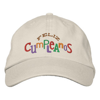 Feliz Cumpleaos Embroidery Hat Embroidered Baseball Cap