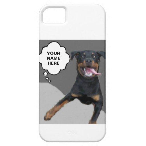 FELIZ DE PROTEGER SU CASO DEL PERRO IPHONE DEL TEL iPhone 5 Case-Mate PROTECTORES