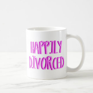 Feliz de ser hembra divorciada tazas de café