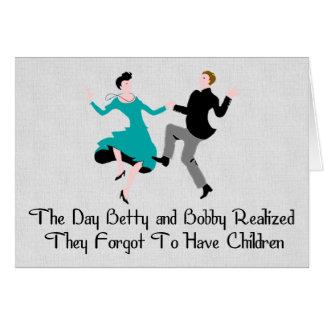 Feliz de ser niño libere tarjeta de felicitación