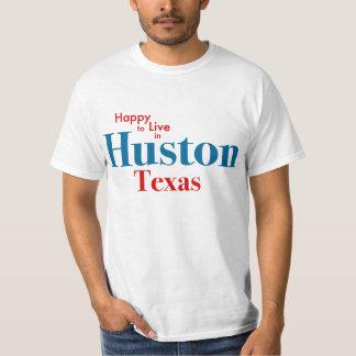 Feliz de vivir en Huston Playera