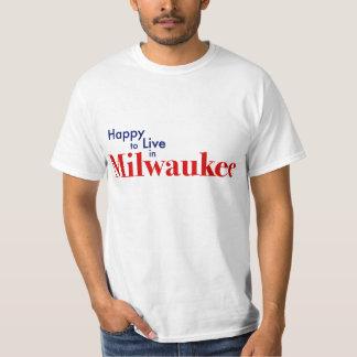 Feliz de vivir en Milwaukee, Wisconsin Playera