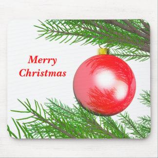 Feliz decoración del árbol de navidad tapetes de raton