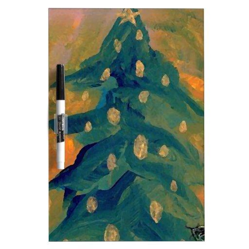 Feliz decoración del día de fiesta del árbol de na pizarras blancas de calidad