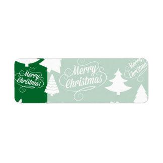 Feliz día de fiesta del reno de Santa de los árbol Etiqueta De Remitente