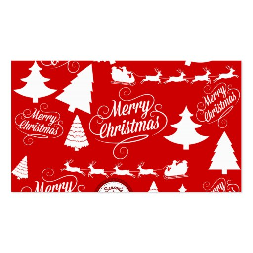 Feliz día de fiesta del reno de Santa de los árbol Tarjetas De Visita