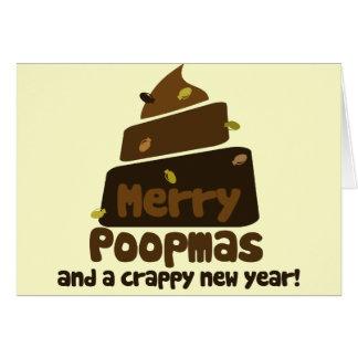 Feliz día de fiesta divertido de Poopmas Felicitación