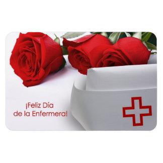 Feliz Día de la Enfermera Imán del regalo en espa