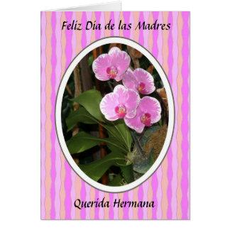 Feliz Dia de las madres querida hermana Greeting Card