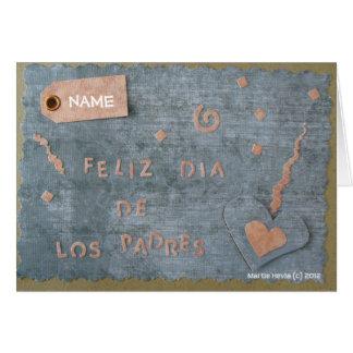 Feliz Dia de Los Padres (Personalize) Greeting Card