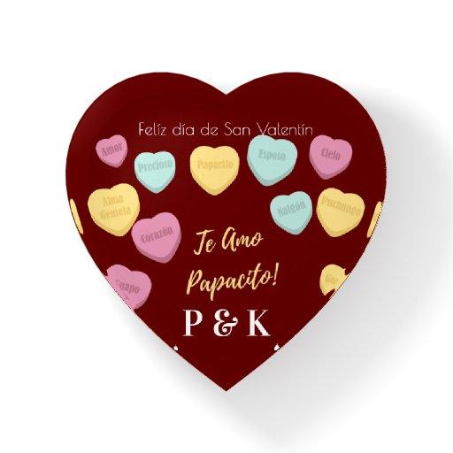 Felíz día de San Valentín Red Te Amo Papacito Paperweight