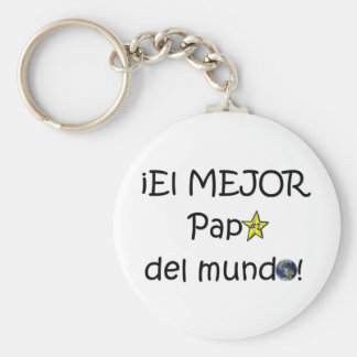 ¡Feliz día del padre - eres el mejor! Basic Round Button Keychain