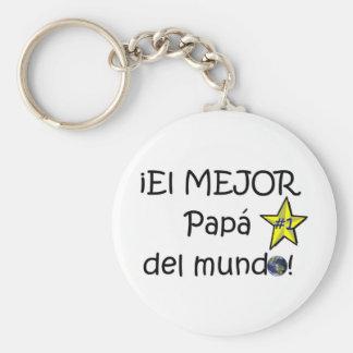 ¡Feliz día del padre - eres el mejor! Keychain